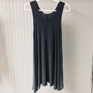 Dresses & Skirts - Soft Casual Charcoal Grey Sleeveless Dress
